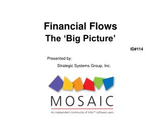 Financial Flows  The 'Big Picture'