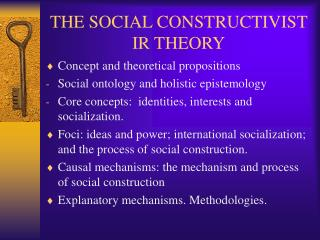 THE SOCIAL CONSTRUCTIVIST IR THEORY