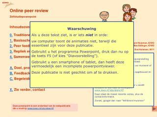 Online peer review Zelfstudiepowerpoint