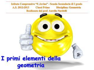 I primi elementi della geometria