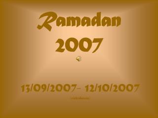 Ramadan 2007