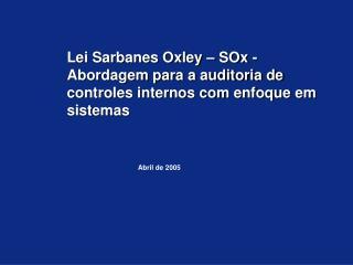 Abril de 2005