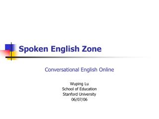 Spoken English Zone