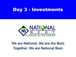 Day 3 - Investments