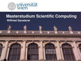 Masterstudium Scientific Computing