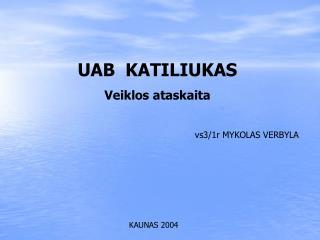 UAB  KATILIUKAS Veiklos ataskaita