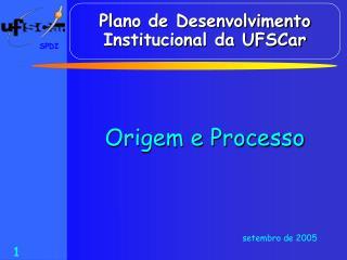 Plano de Desenvolvimento Institucional da UFSCar
