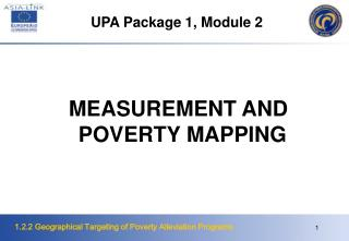 MEASUREMENT AND POVERTY MAPPING