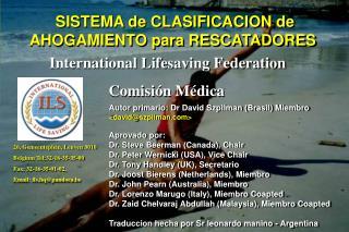 SISTEMA de CLASIFICACION de  AHOGAMIENTO para RESCATADORES