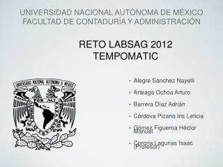 RETO LABSAG 2012 TEMPOMATIC