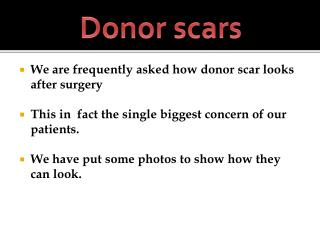 Donor scars