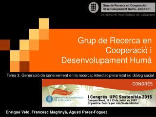 Grup de Recerca en Cooperació i Desenvolupament Humà