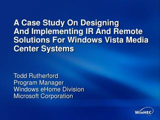 A Case Study On Designing And Implementing IR And Remote ...