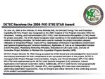 DETEC Receives the 2006 PEO STRI STAR Award
