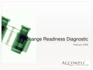 Change Readiness Diagnostic