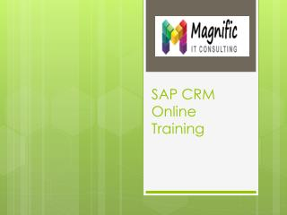 sap crm online training in chennai