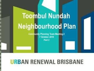 Toombul Nundah  Neighbourhood Plan