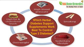 Which Herbal Diabetes Support Supplements Work Best To Contr