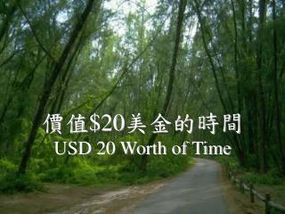 價值 $20 美金的時間 USD 20 Worth of Time