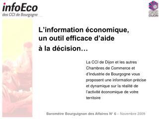L'information économique, un outil efficace d'aide  à la décision…
