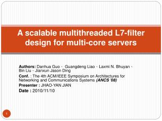 A scalable multithreaded L7-filter design for multi-core servers