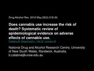 Drug Alcohol Rev. 2010 May;29(3):318-30.