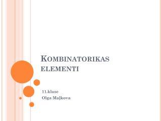 Kombinatorikas elementi