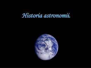 Historia astronomii.