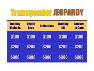 Transgender JEOPARDY