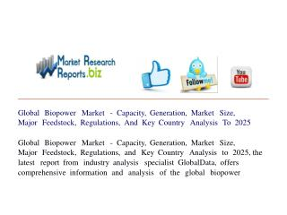 Global Biopower Market - Capacity, Generation, Market Size,