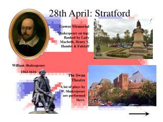 28th April :  Stratford