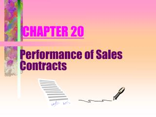 Performance of Sales Contracts