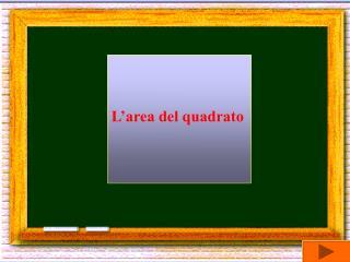 L'area del quadrato