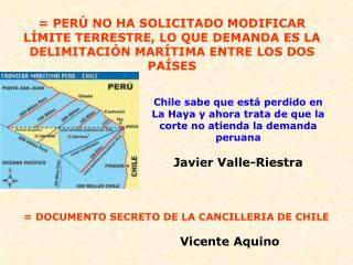 = DOCUMENTO SECRETO DE LA CANCILLERIA DE CHILE