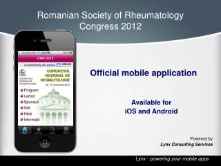 Romanian Society of Rheumatology  Congress 2012