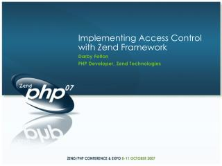 Implementing Access Control with Zend Framework