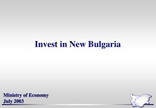 Invest in New Bulgaria