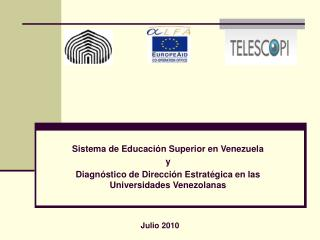 Sistema de Educaci�n Superior en Venezuela y