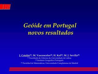 Geóide em Portugal   novos resultados
