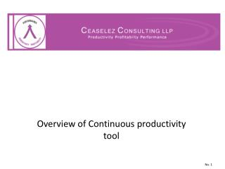 Overview of Continuous productivity tool