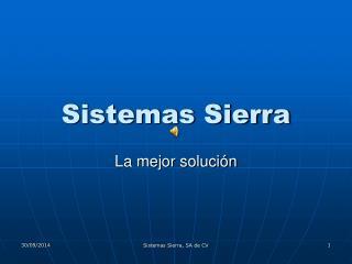Sistemas Sierra