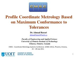 Profile Coordinate Metrology Based on Maximum Conformance to Tolerances
