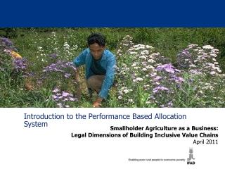 Introduction to the Performance Based Allocation System