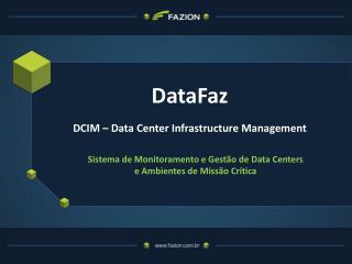 DataFaz DCIM � Data Center Infrastructure Management