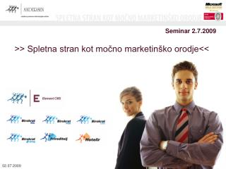 Seminar 2.7.2009