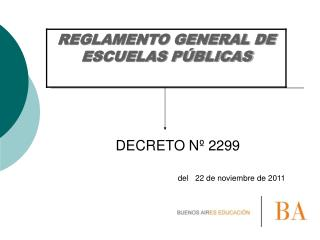DECRETO Nº 2299
