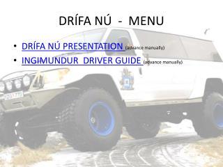 DR�FA N�  -  MENU