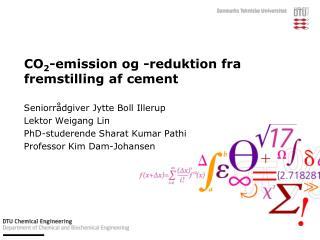 CO 2 -emission og -reduktion fra fremstilling af cement