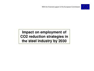 Impact on employment of CO2 reduction strategies in the steel industry by 2030