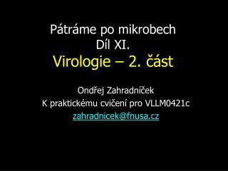 Pátráme po mikrobech Díl XI. Virologie – 2. část